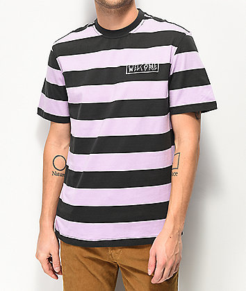 Welcome Big Beautiful Lavender Striped T-Shirt