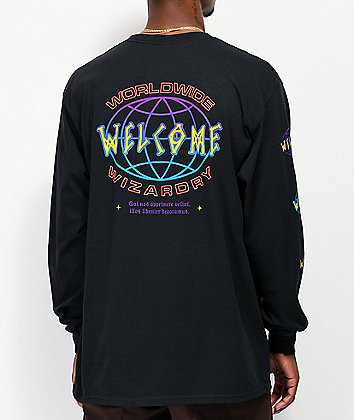 Welcome Global Black Long Sleeve T-Shirt