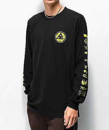 Welcome Sponsed Black Long Sleeve T-Shirt