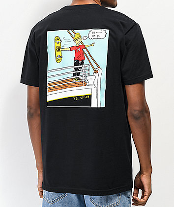 Willy Skate Co. S.S. Willy Skate Co. Black T-Shirt
