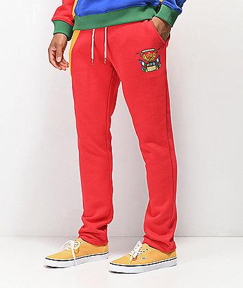 YRN Finesse On Ten Red, Orange, Blue & Green Sweatpants
