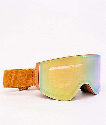 Zeal Hatchet Desert Gold Alchemy Mirror Snowboard Goggles