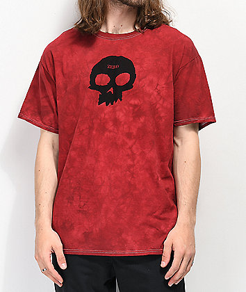 Zero Single Skull Red Washed T-Shirt