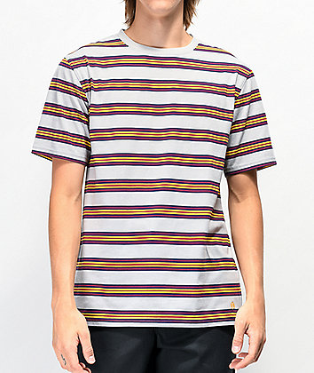 Zine Bonus Grey & Yellow Stripe T-Shirt