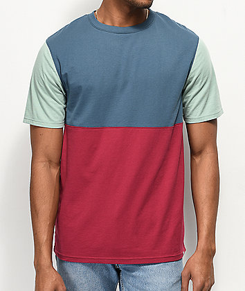 Zine Choice Block Teal, Berry & Grey T-Shirt