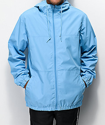 Zine Course Blue Windbreaker Jacket