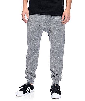 Zine Cover Grey Knit Jogger Pants