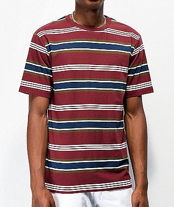 Zine Daze Red, Navy & White Striped T-Shirt