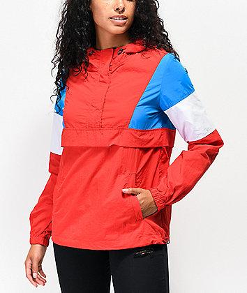 Zine Kailyn Red, White & Blue Windbreaker Jacket