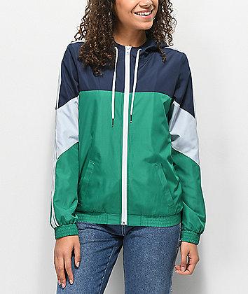 Zine Lainey Green Windbreaker Jacket