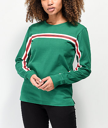 Zine Monroe Taped Green Long Sleeve T-Shirt