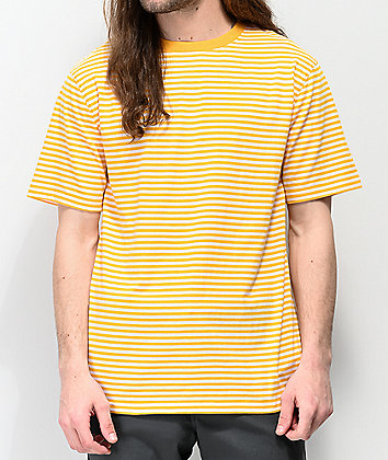 Zine Ranked Yellow & White Striped T-Shirt