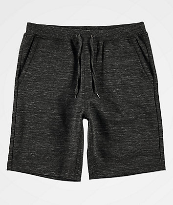 Zine Silas Black Athletic Sweat Shorts