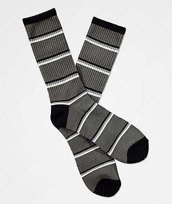 Zine Tried Beluga Black & Grey Crew Socks