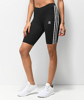 adidas 3 Stripe Black Bike Shorts