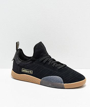 adidas 3ST.003 Black, Gold & Gum Shoes