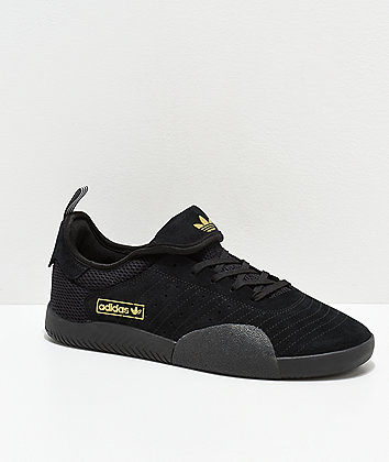 adidas 3ST.003 Black, White & Gold Shoes