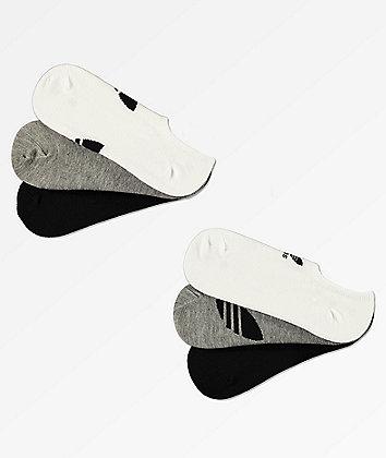 adidas 6 Pack Trefoil Super-No-Show Socks