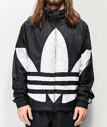 adidas Big Trefoil Black & White Windbreaker Jacket