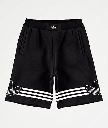 adidas Boys Outline Black Shorts