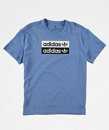 adidas Boys V-Ocal Blue T-Shirt