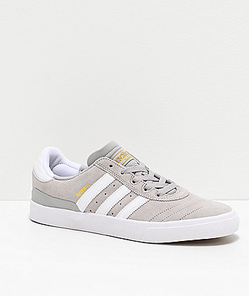 adidas Busenitz Vulc Grey, White & Gold Shoes