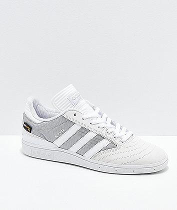 adidas Busenitz White Suede & Cordura Canvas Shoes