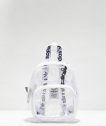 adidas Clear & White Mini Backpack