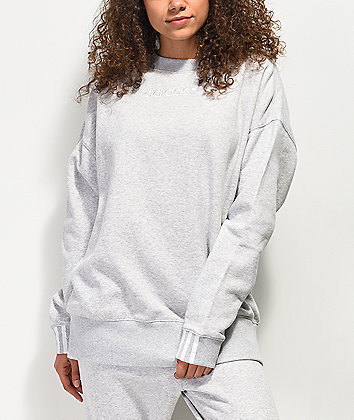 adidas Coeeze Light Grey Crew Neck Sweatshirt