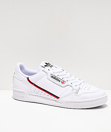 adidas Continental 80 White, Scarlet & Navy Shoes
