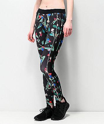 adidas Floral Black Leggings