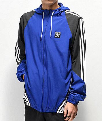 adidas Insley Blue, Black & White Windbreaker Jacket