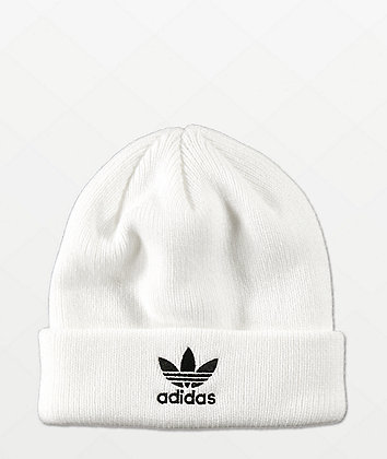 adidas Original White & Black Beanie