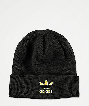 adidas Originals Black & Gold Beanie