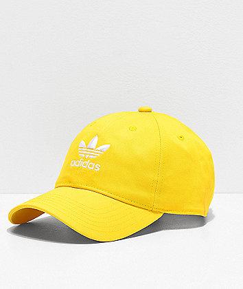 adidas Originals Relaxed Yellow Strapback Hat