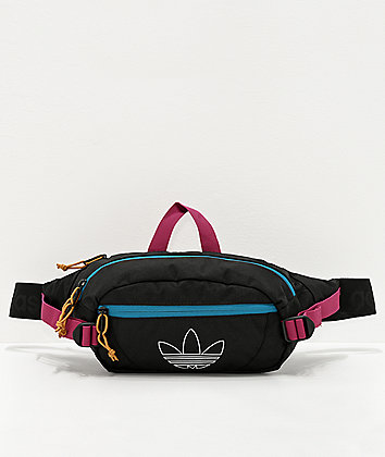 adidas Originals Utility Black, Teal & Berry Crossbody Bag