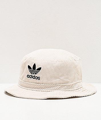adidas Originals White Corduroy Bucket Hat