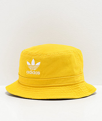 adidas Originals Yellow & White Bucket Hat