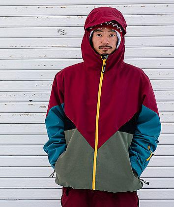 adidas Premiere chaqueta de snowboard en rojo, verde y azul