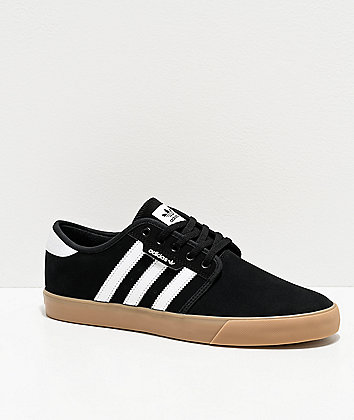 adidas Seeley Black & White Skate Shoes
