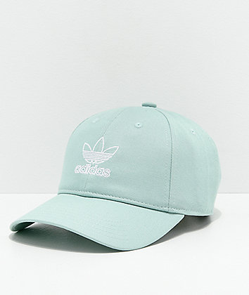 adidas Women's Originals Relaxed Outline Slate Green Strapback Hat