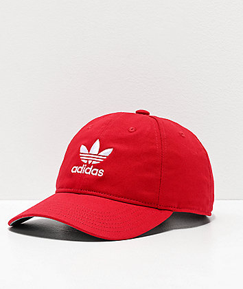 adidas Women's Originals Relaxed Scarlet & White Strapback Hat