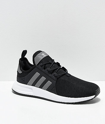 adidas Xplorer Black, Heather Grey & White Shoes
