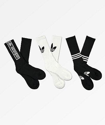 adidas paquete de 3 calcetines con logo gráfico