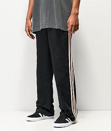 adidas x Nora 3 Stripe Black & Glow Pink Chino Pants