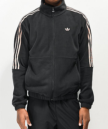 adidas x Nora Black & Glow Pink Fleece Jacket