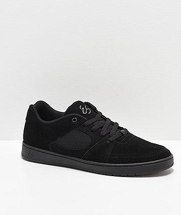 eS Accel Slim Black Skate Shoes