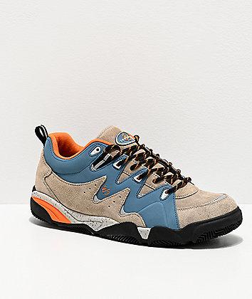 eS Symbol Tan & Blue Skate Shoes