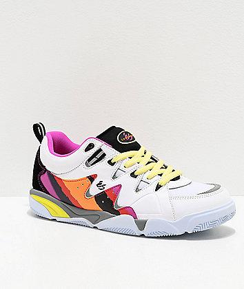 eS Symbol White & Purple Skate Shoes