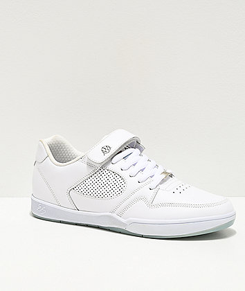 eS x Muckmouth Accel Plus White Skate Shoes